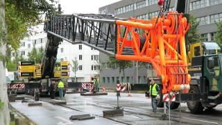 Soeren66 - Mobilkran LIEBHERR LTM 1400-7.1 beim Einbau eines Stromaggregat am Berliner Bogen(, 2017-02-09T23:30:00.000Z)