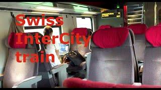 Swiss InterCity train. Podróż szwajcarskim pociągiem