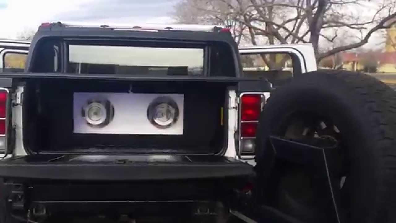 Hummer H11 SUT Custom Sound System | hummer h2 subwoofer box