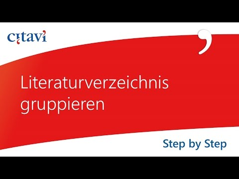 LITERATURVERZEICHNIS ERSTELLEN [Word] Projektarbeit, Facharbeit, Bachelorarbeit from YouTube · Duration:  3 minutes 55 seconds
