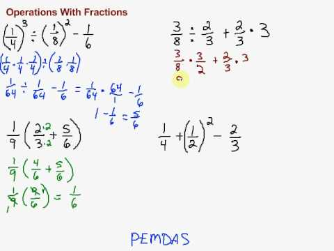Multiple Operations With Fractions - Youtube