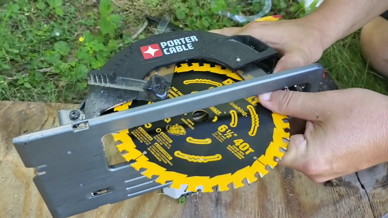How To Change The Blade On The Porter Cable Cordless Circular Saw