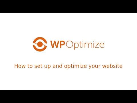 Setting Up WP-Optimize