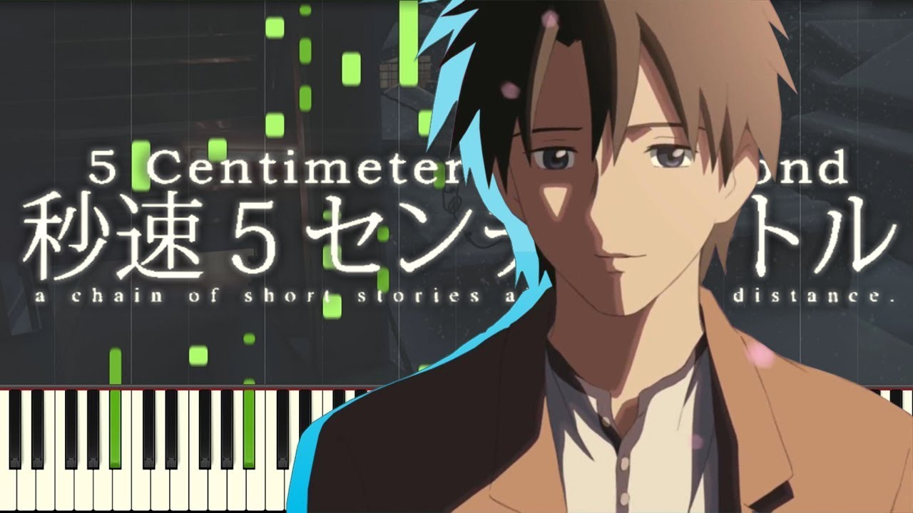 The Feeling That Doesnt Reach 5 Centimeters Per Second Synthesia Piano Tutorial