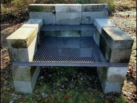 DIY - How To Build a Homemade BBQ Pit | Backyard Concrete Block Grill | Easy