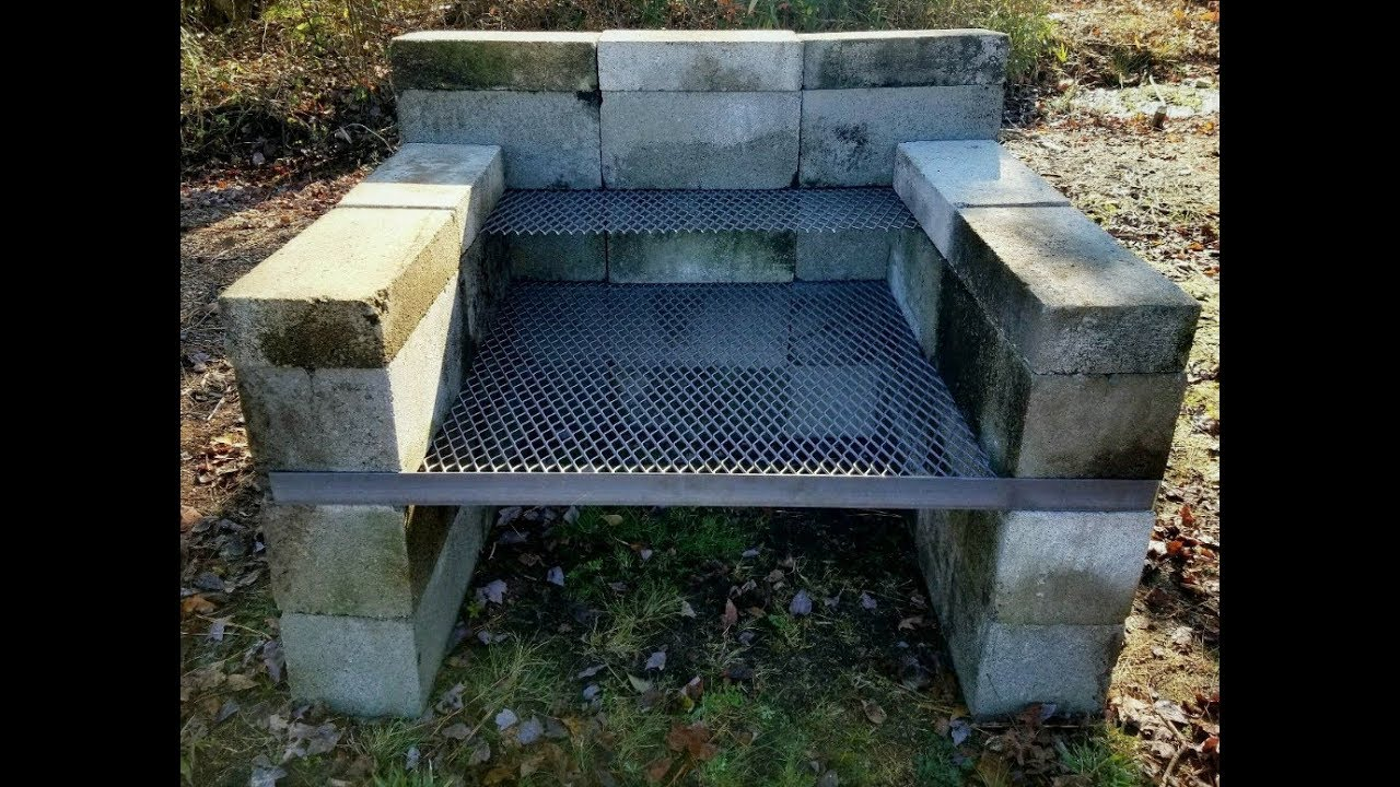 DIY - How To Build a Homemade BBQ Pit | Backyard Concrete Block Grill Homemade Block Smokers Plans on homemade brick bbq pits, cement block smoker, homemade fire pit, cinder block grill and smoker, brick block smoker, cinder block pig smoker,