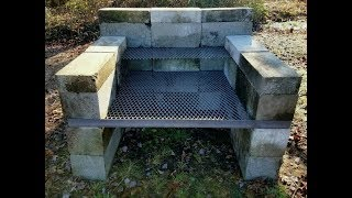 DIY - How To Build a Homemade BBQ Pit   Backyard Concrete Block Grill   Easy