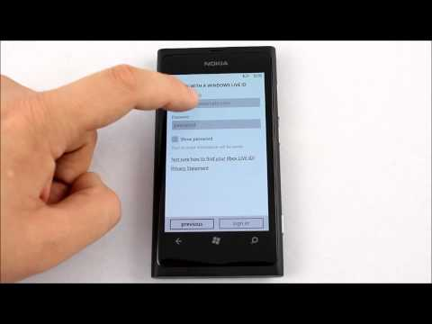 Nokia Lumia 800   Configurare Cont Windows Live