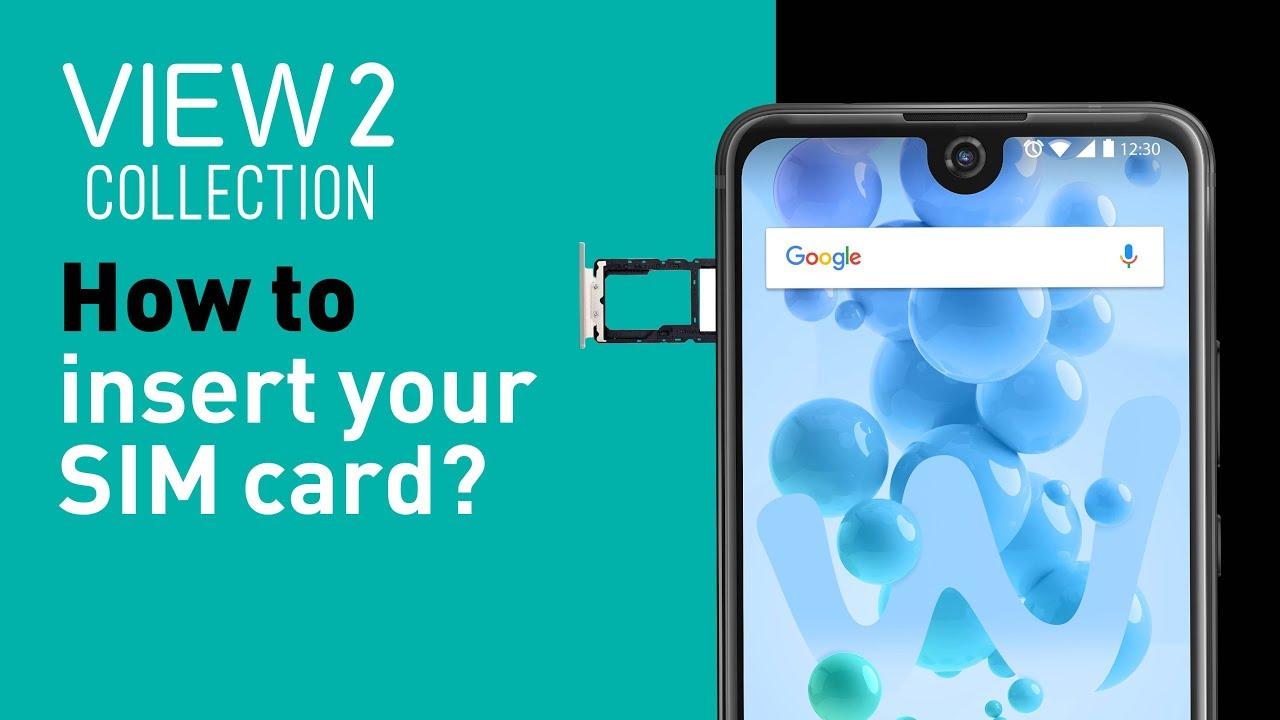 transfert carte sim vers nano sim free Wiko View2 collection tutorial   How to insert your SIM card
