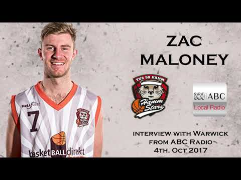 Zac Maloney - Interview with Warwick from ABC Radio 4th Oct