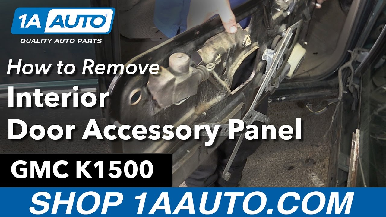 How To Remove Interior Door Accessory Panel 88 98 Gmc K1500 Youtube