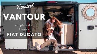VANTOUR   Funniest van tour on YouTube? Couple living in a Fiat Ducato L1H1 van
