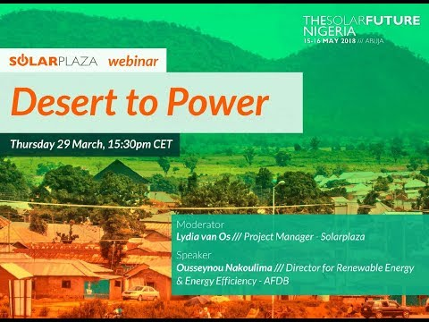 Desert to Power (Solarplaza Webinar)