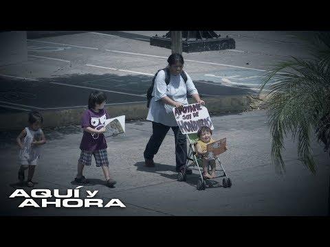 La Deportación dejó a esta madre centroamericana viuda y pidiendo en las calles México