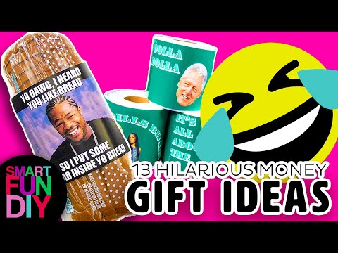 Gift Pranks! 😜 13 HILARIOUS Ways To Give 🎁 GIFT CARDS + Cash Gifts + Money 💸 [Free Printables]🎄