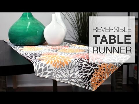 how to sew a reversible table runner tutorial youtube