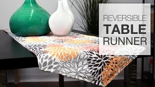 How To Sew A Reversible Table Runner (tutorial)