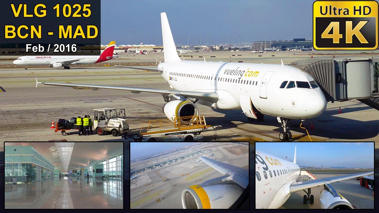 Flight experience barcelona madrid vueling a320 for Oficinas vueling barcelona