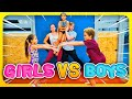 Girls VS Boys Gymnastics Stick It Challenge| Rachel Marie