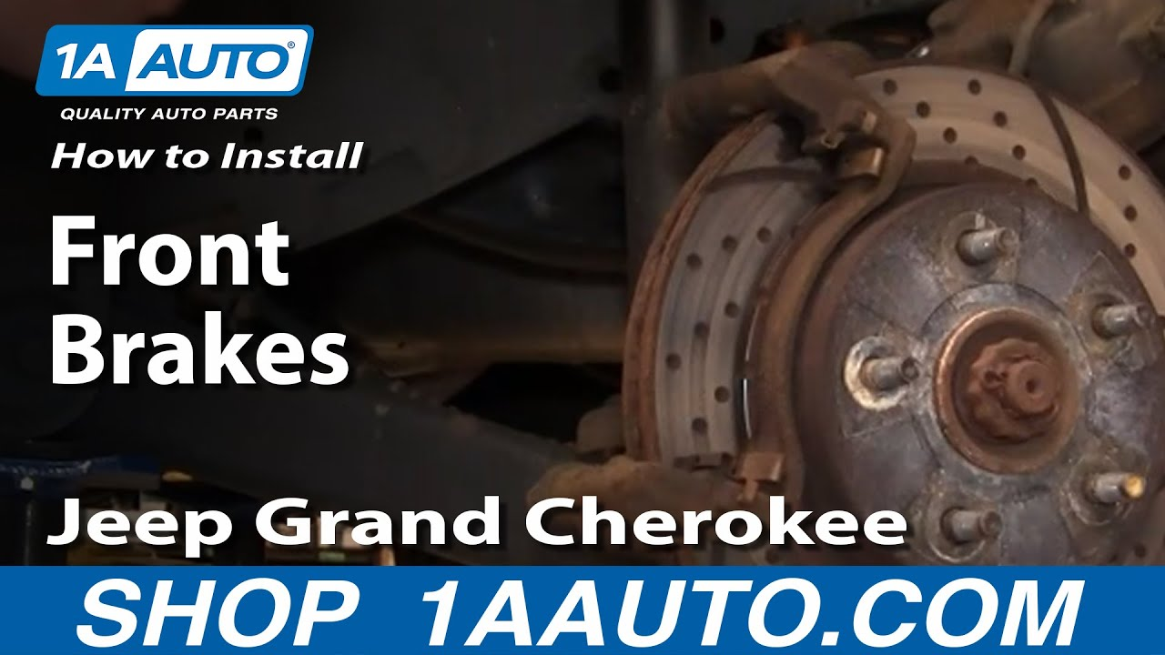 how to replace front brakes 99 02 jeep grand cherokee [ 1280 x 720 Pixel ]