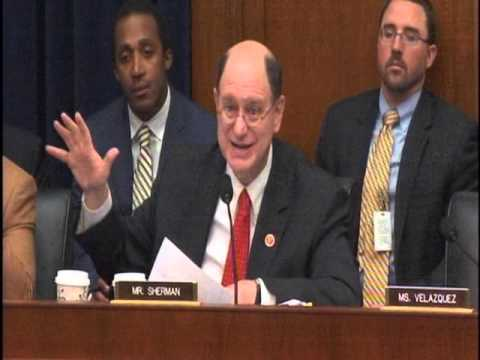 """Congressman Sherman Questions Fed Chair Janet Yellen on """"Too Big to Fail"""""""