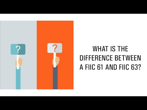 What is the difference between a FIIC 61 and FIIC 63?