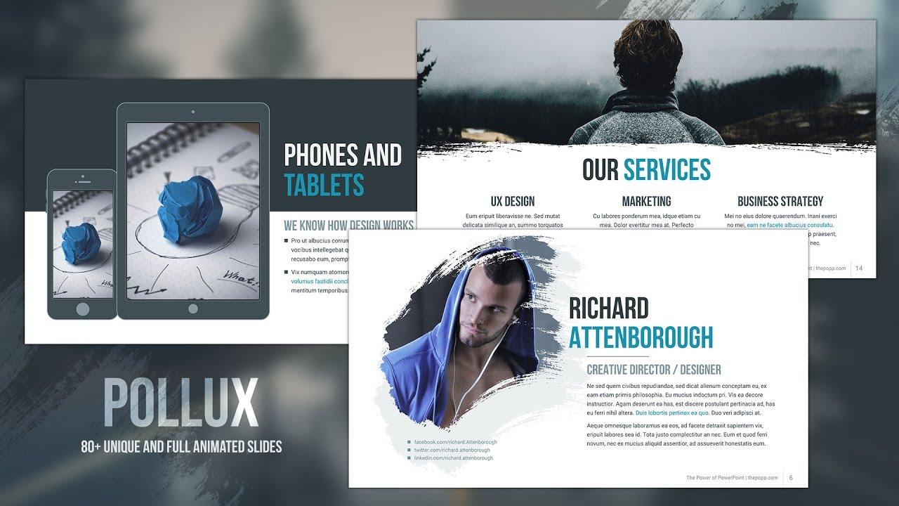 Pollux free powerpoint template youtube toneelgroepblik Gallery