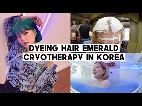 DTV.05: Dyeing Hair Emerald Blue/Green, Burning +500 cal by Cryotherapy, Tiramisu Cafe   Q2HAN