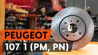 Como mudar Discos de travagem PEUGEOT 107 - vídeo grátis online