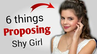 How to Propose a Shy Girl ? » Do's ✔ & Don'ts ❌