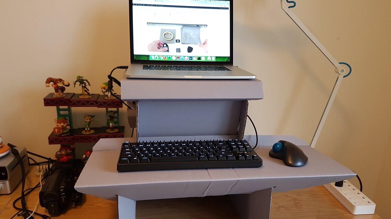 Ergodriven Spark Cardboard Standing Desk Unboxing U0026 Assembly Nice Design