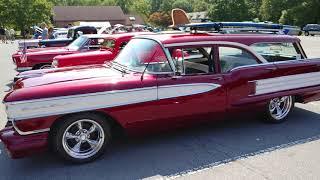 1958 kandy apple red oldsmobile eighty eight fiesta station wagon