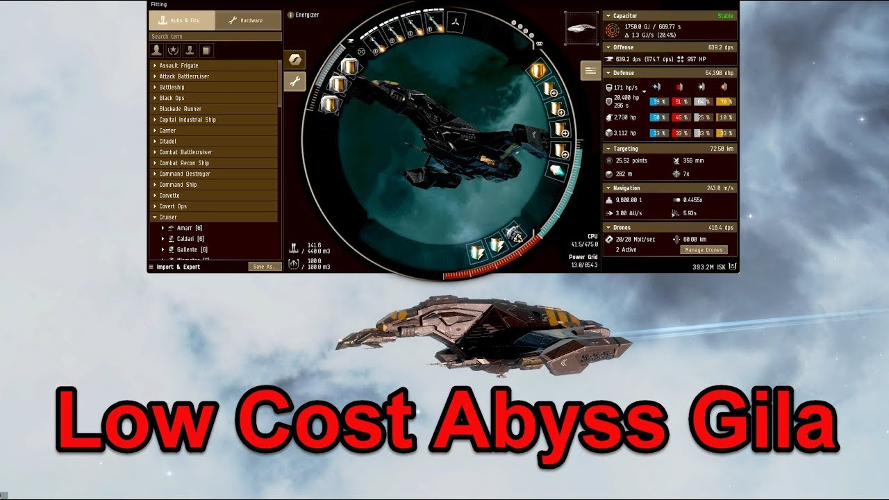 EVE Online Cheap Gila Fit for Tier 1-3 Abyss Sites - Alpha Clone Approved