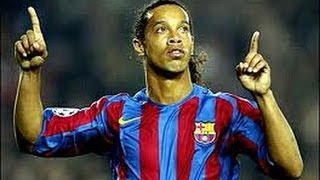 free kicks penalties and then normal goals from the talented ronaldinho