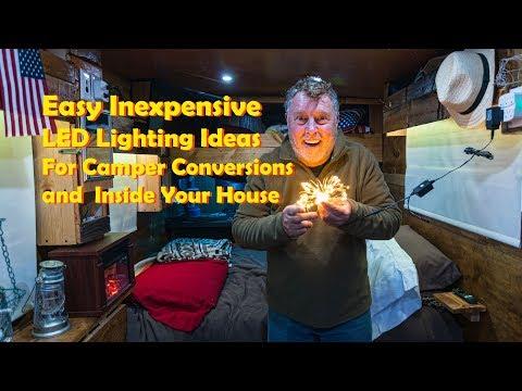 EASY Cheap DIY LED Lighting Camper Conversion