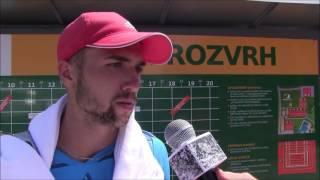 Dominik Kellovský po výhře v prvním kole na turnaji Futures v Ústí n. O.