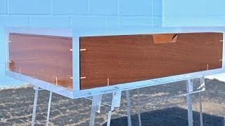 DIY Floating Drawer Acrylic Table