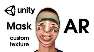 AR Masks (AR Face Filters) — Unity Asset — AR Mask: Custom Texture (Face on Face)