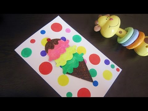 Cardmaking: Make an Ice Cream Card - EP 651 - EP - simplekidscrafts - simplekidscrafts