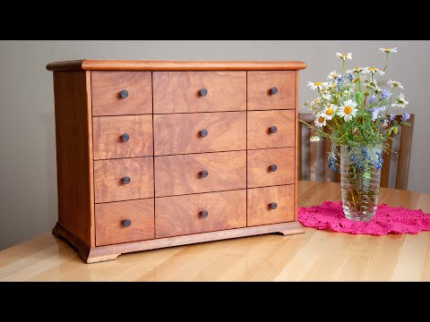 Изготовление Мини-Комода из Вишни. Мастер-класс.  Деревообработка / Making  Cabinet Box Woodworking