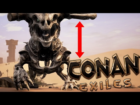 Conan Exiles - BIGGEST MONSTER IN THE GAME?? - (Conan Free Play Gameplay)