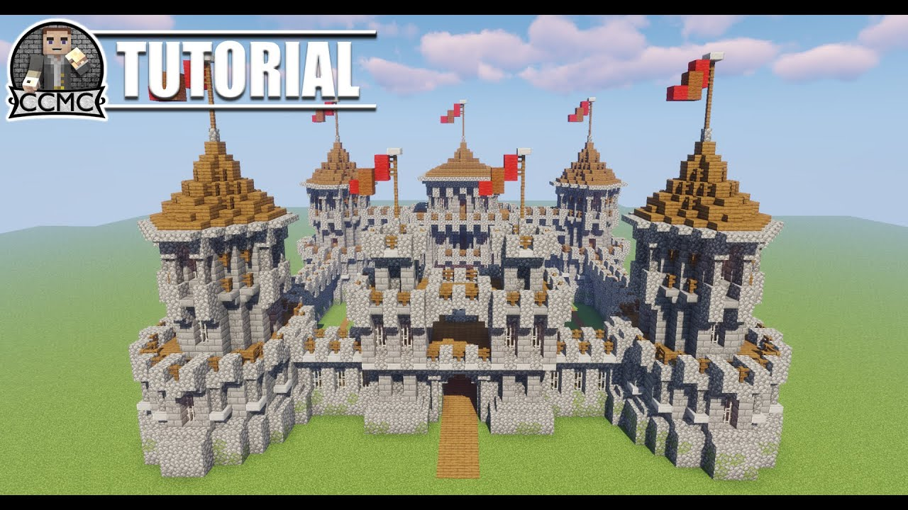 Minecraft Castle Keep King Hall Fort Tutorial Video Youtube