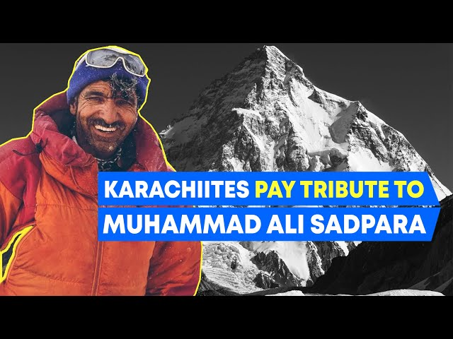 Karachiites Pay Tribute To Muhammad Ali Sadpara