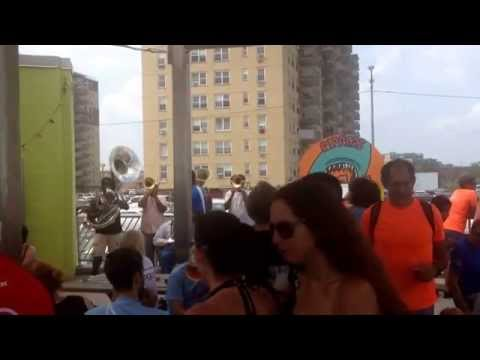 Brass band at Rippers, Rockaway Beach 7/27/2014
