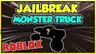 THE MONSTER TRUCK AND NEW VEHICLES! JAILBREAK UPDATE! (ROBLOX)