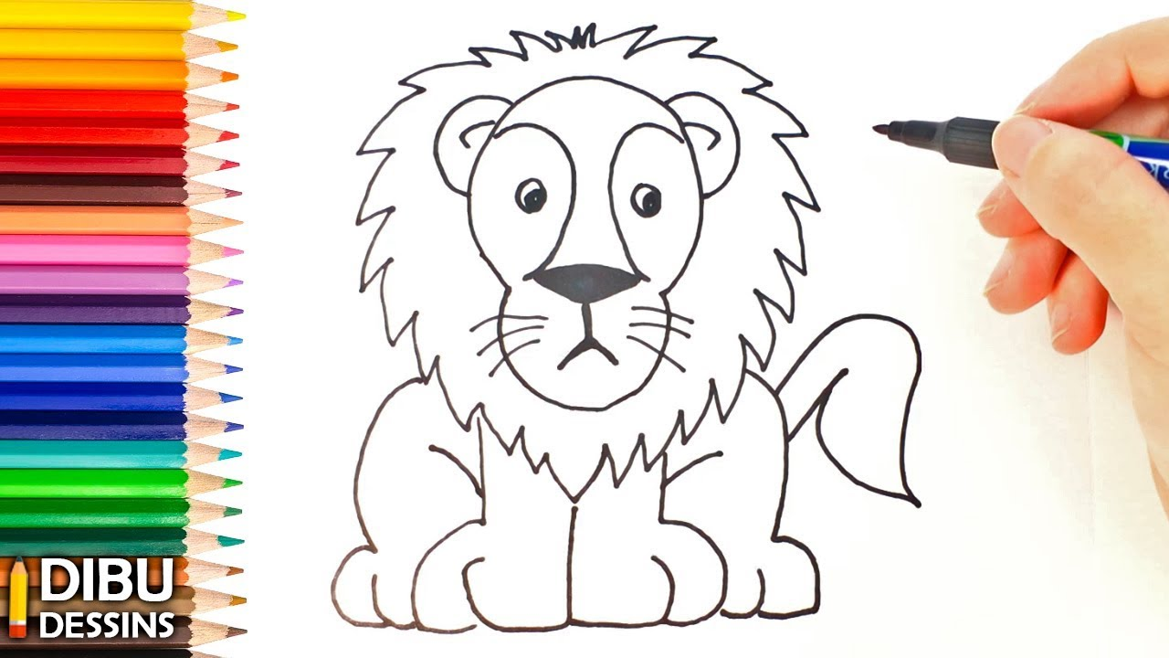 Comment Dessiner Un Lion Etape Par Etape Youtube