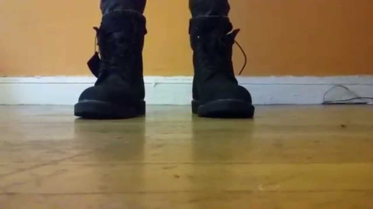 Timberland 6 Inch Basic Boot Black On Feet Youtube