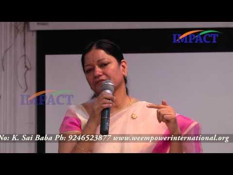 Dr G V Hemalatha Devi I.R.S at WeFoundation Hyderabad
