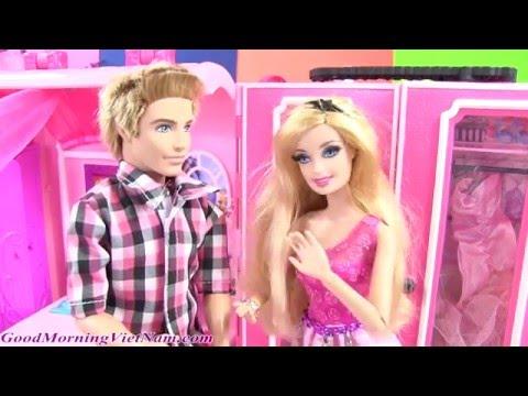 Cuộc Sống Barbie & Ken (Tập 43) Barbie Terasa Elsa Thi Trang Phục Dạ Hội (Bí Đỏ) Frozen Elsa Barbie