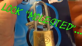 (237) L&B Security Omega Padlock Rocked & Zipped & Picked Open